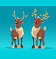 rudolph reindeers christmas vector image
