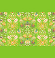 seamless ornament with oriental pattern vector image