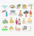 set doodle - sights of vector image