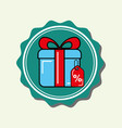 shopping gift box tag price label vector image