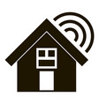 smart village home icon simple style vector image vector image