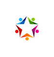 star people logo icon design vector image vector image