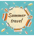 Summer travel card Summer vacation concept vector image