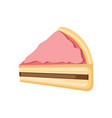 sweet strawberry top cheese cake vector image