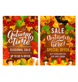 thanksgiving day sale posters vector image vector image