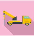 truck drill icon flat style vector image
