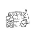 vat with poison poison and pumpkin halloween vector image vector image