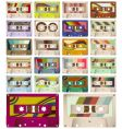 vintage cassettes vector image vector image