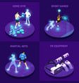 vr sports isometric design concept vector image vector image