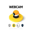 Webcam icon in different style vector image