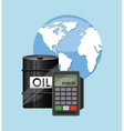 World oil prices design vector image vector image