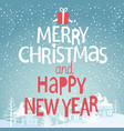 winter background with greeting vector image