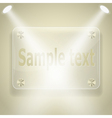glass frame with spotlights vector image
