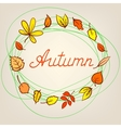 Autumn abstract background with circle from vector image