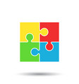 puzzle icon flat puzzle game sign symbol with vector image