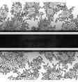 floral decorative background Template frame design vector image