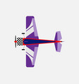 airplane with a propeller bottom view vector image vector image