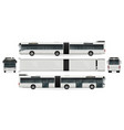 articulated bus mock-up vector image vector image