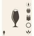 Beer Icon set Design element vector image vector image