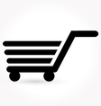 black simple shopping icon vector image