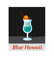blue hawaii cocktail menu item or any kind of vector image vector image