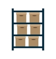 boxes pile warehouse service vector image