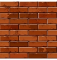 brick wall background texture pattern vector image vector image