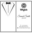 business card White tuxado vector image vector image