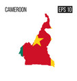 cameroon map border with flag eps10 vector image