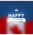 card for Canada Day vector image vector image