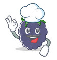 chef blackberry character cartoon style vector image
