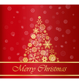 Christmas Background with Gold Tree vector image