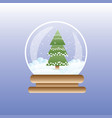christmas tree in magic glass ball winter holidays vector image