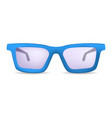 classic glasses for eyes mockup realistic style vector image vector image