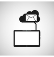 cloud device email media apps graphic vector image vector image