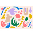 collage pattern background hand drawn vector image vector image