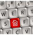 Computer keyboard home key vector image