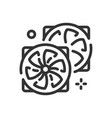 cooling icon in simple one line style vector image