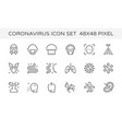 coronavirus icon vector image vector image