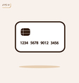 credit plastic card vector image