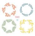 cure floral frame set design vector image vector image