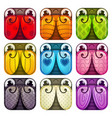 cute colorful glossy square bugs set vector image vector image