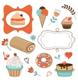 Desserts collecton vector image
