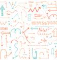 doodle arrow vector image