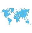 Dotted Blue World Map Isolated on White vector image vector image