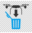 Drone Drop Trash Icon vector image vector image