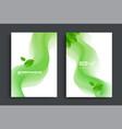 eco brochure design with green fluid wavy shapes vector image vector image
