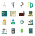 Engineer Flat Icons Set vector image