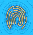 fingerprint sign sand color vector image vector image