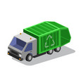 garbage collector truc vector image vector image